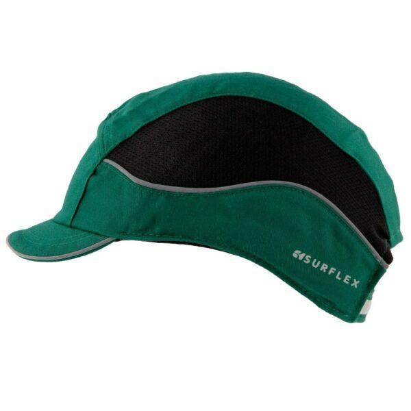 casquette de protection aérée verte surflex