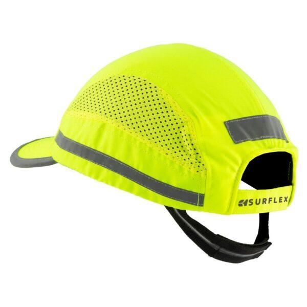casquette de protection jaune fluo
