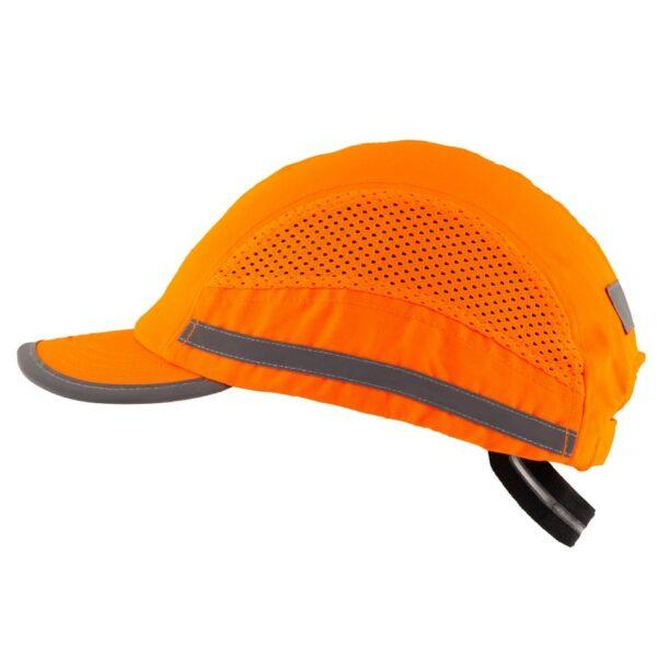 casquette anti-heurt toute saison orange