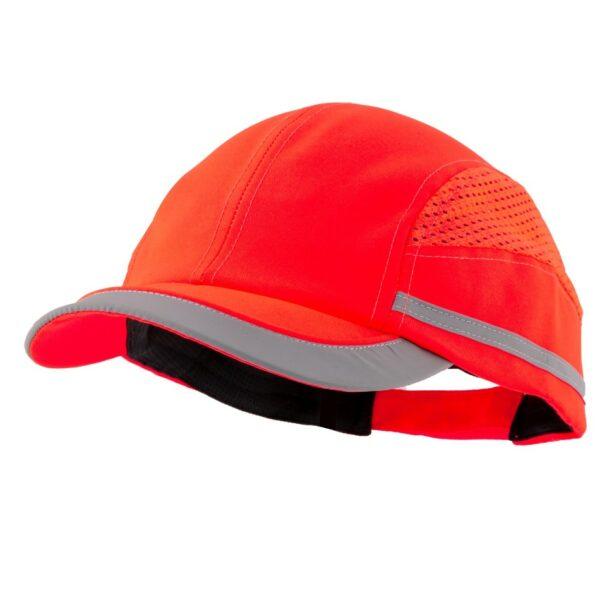 casquette anti-heurt toute saison rouge fluo