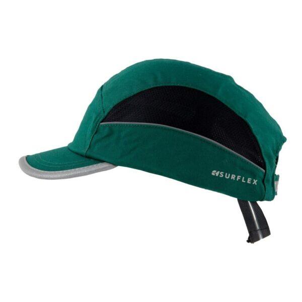 casquette anti choc vert